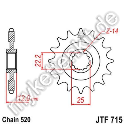 Ritzel JT Sprockets JTF715