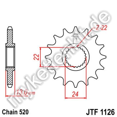Ritzel JT Sprockets JTF1126