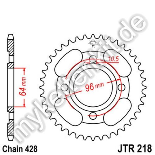 Kettenrad JTR218 Stahl