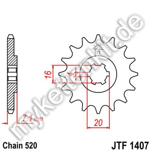 Ritzel JT Sprockets JTF1407