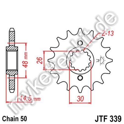Ritzel JT Sprockets JTF339