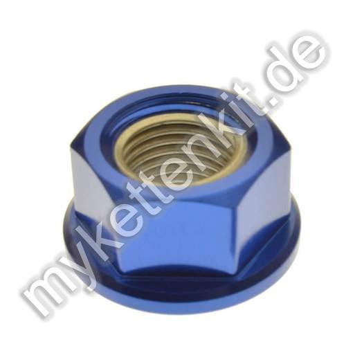 Befestigungsmutter M12x1.25mm Alu blau