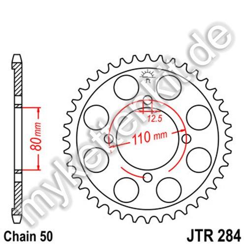 Kettenrad JTR284 Stahl