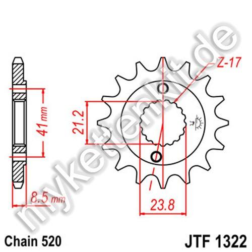 Ritzel JT Sprockets JTF1322