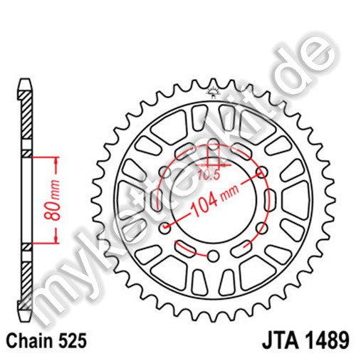 Kettenrad JTA1489 Alu