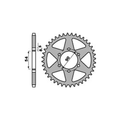 Kettenrad PBR4537F Stahl