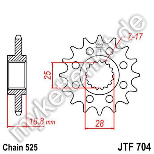 Ritzel JT Sprockets JTF704