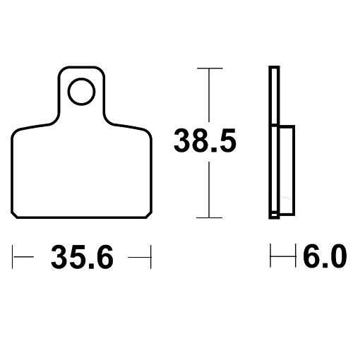 Bremsklotz Standard TRW MCB767 (1 Satz)