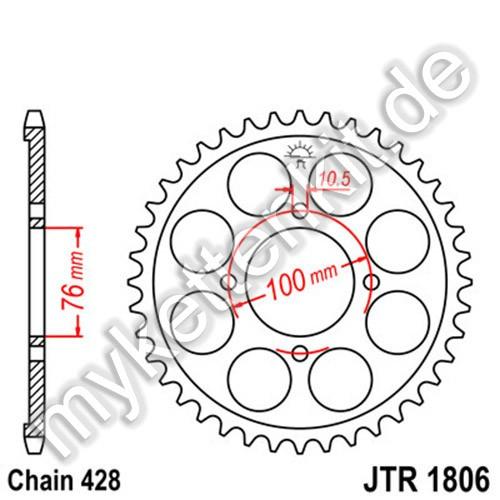 Kettenrad JTR1806 Stahl