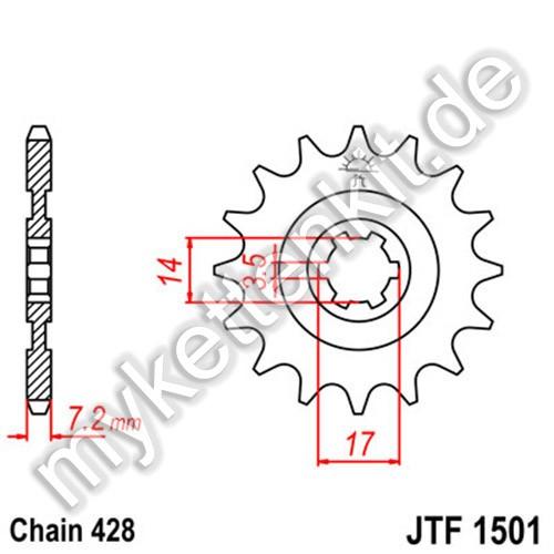 Ritzel JT Sprockets JTF1501