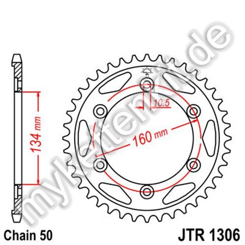 Kettenrad JTR1306 Stahl