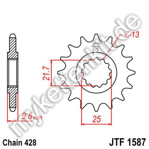 Ritzel JT Sprockets JTF1587