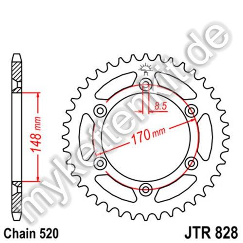 Kettenrad JTR828 Stahl