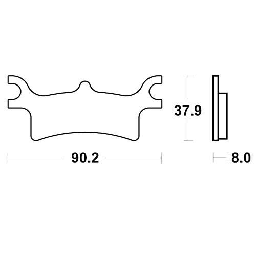 Bremsklotz Sinter SI TRW MCB798SI (1 Satz)