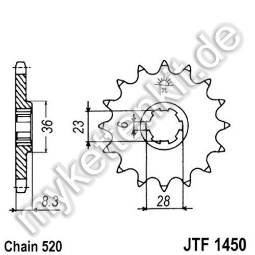 Ritzel JT Sprockets JTF1450