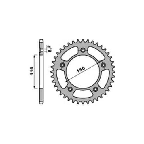 Kettenrad PBR4329 Stahl