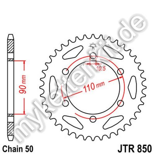 Kettenrad JTR850 Stahl