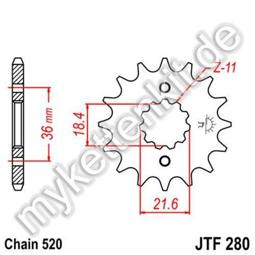 Ritzel JT Sprockets JTF280