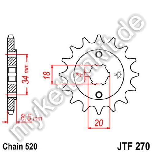 Ritzel JT Sprockets JTF270
