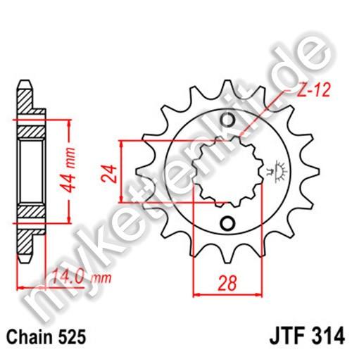Ritzel JT Sprockets JTF314