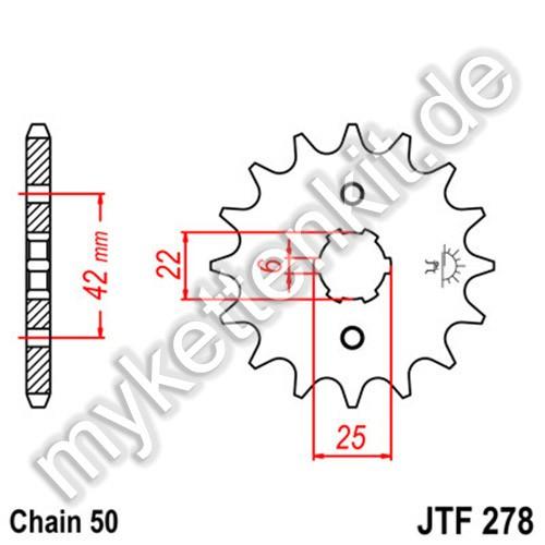 Ritzel JT Sprockets JTF278