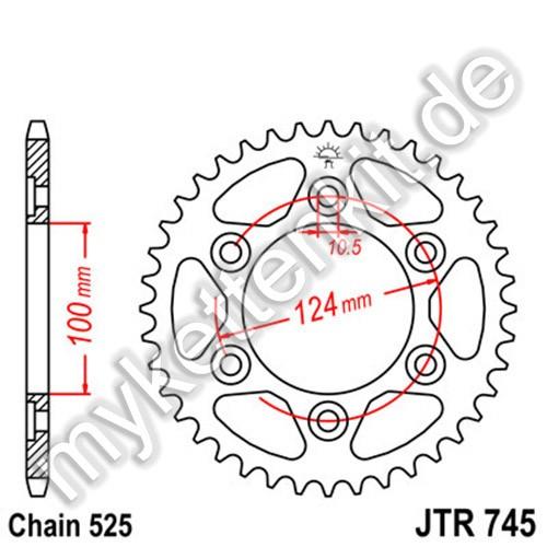 Kettenrad JTR745 Stahl