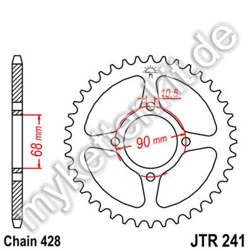 Kettenrad JTR241 Stahl