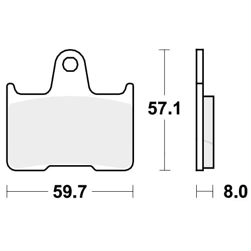 Bremsklotz PC TRW MCB691PC (1 Satz)