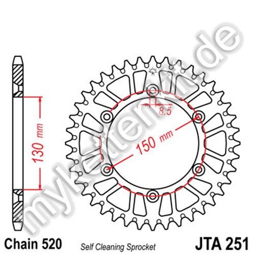 Kettenrad JTA251 Alu