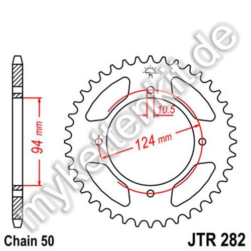 Kettenrad JTR282 Stahl