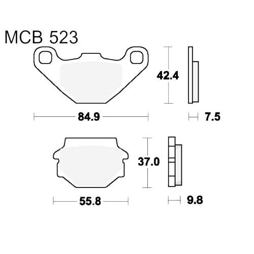 Bremsklotz Standard TRW MCB523 (1 Satz)