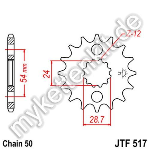 Ritzel JT Sprockets JTF517