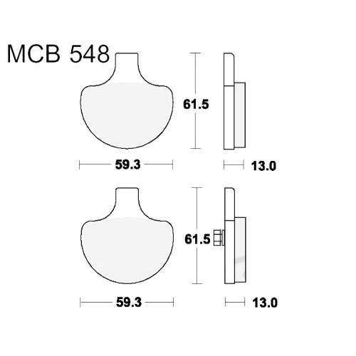 Bremsklotz Standard TRW MCB548 (1 Satz)
