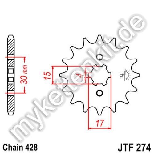 Ritzel JT Sprockets JTF274