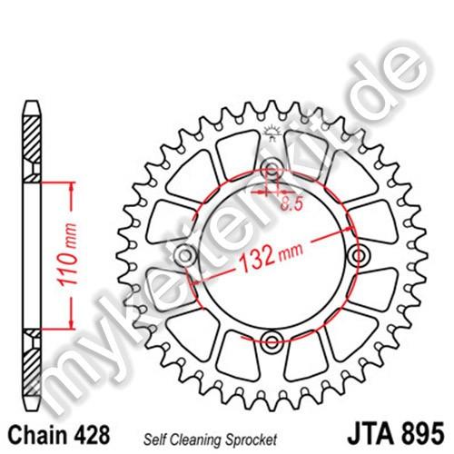 Kettenrad JTA895 Alu