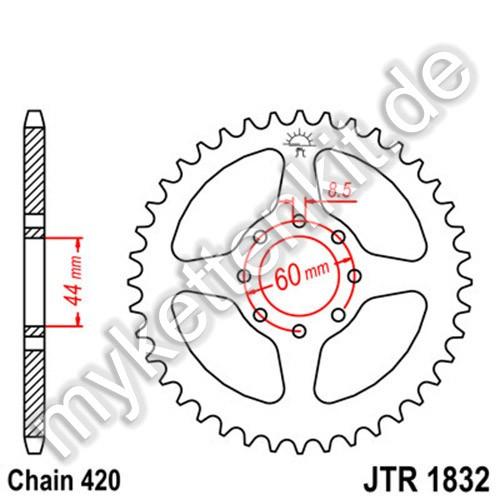 Kettenrad JTR1832 Stahl