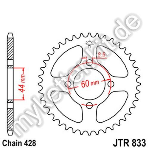Kettenrad JTR833 Stahl