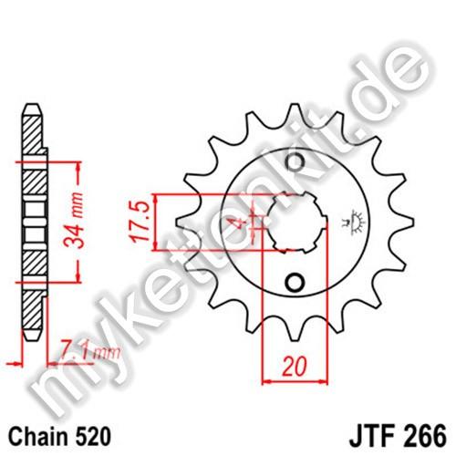 Ritzel JT Sprockets JTF266