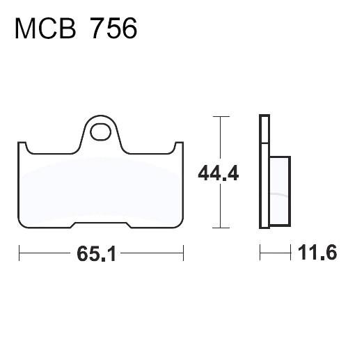 Bremsklotz Sinter SI TRW MCB756SI (1 Satz)