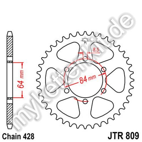 Kettenrad JTR809 Stahl