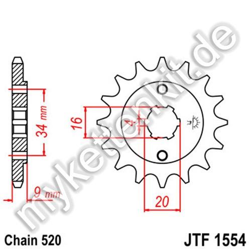 Ritzel JT Sprockets JTF1554