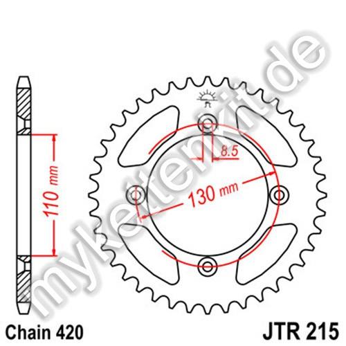 Kettenrad JTR215 Stahl