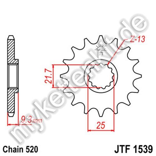 Ritzel JT Sprockets JTF1539