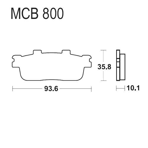 Bremsklotz Standard TRW MCB800 (1 Satz)