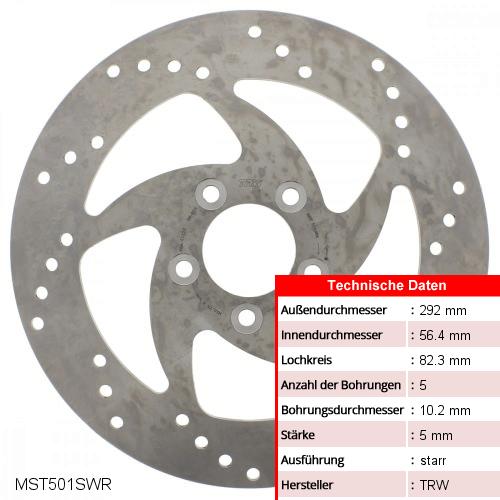 Bremsscheibe starr TRW MST501SWR (1 Stück)