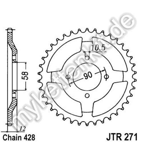 Kettenrad JTR271 Stahl