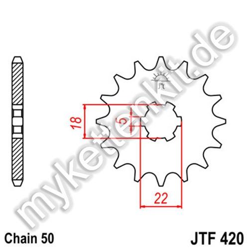 Ritzel JT Sprockets JTF420