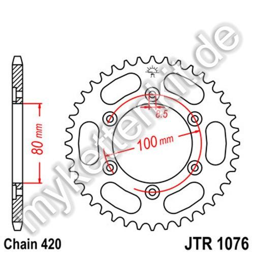 Kettenrad JTR1076 Stahl