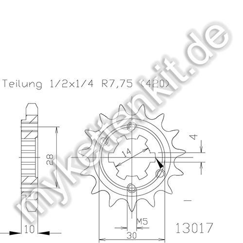 Ritzel Esjot R50-13017