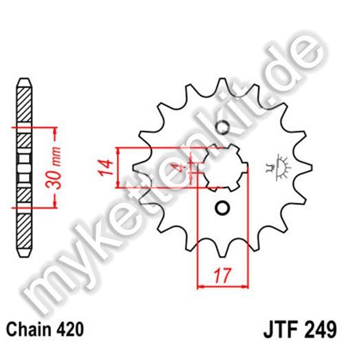 Ritzel JT Sprockets JTF249